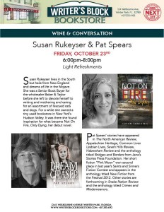 Rukeyser and Spears at Writers Block